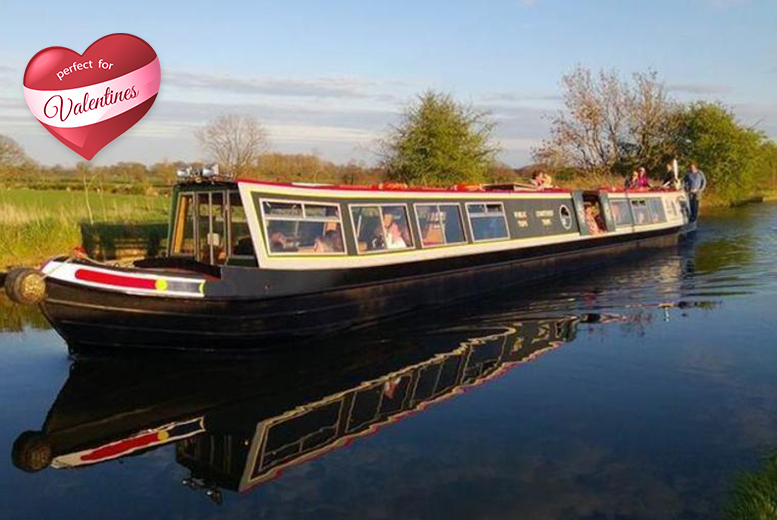 From £14.99 for a Valentine's cruise on the Shropshire Union Canal for 2 inc. cream tea or fish and chips each with Norbury Wharf Ltd