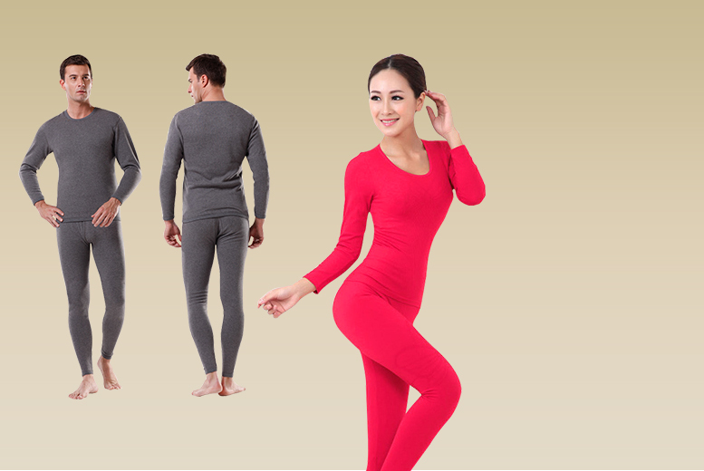 £8 instead of £29.99 (from Beautyfit) for a set of men's or women's thermal underwear - save 73%