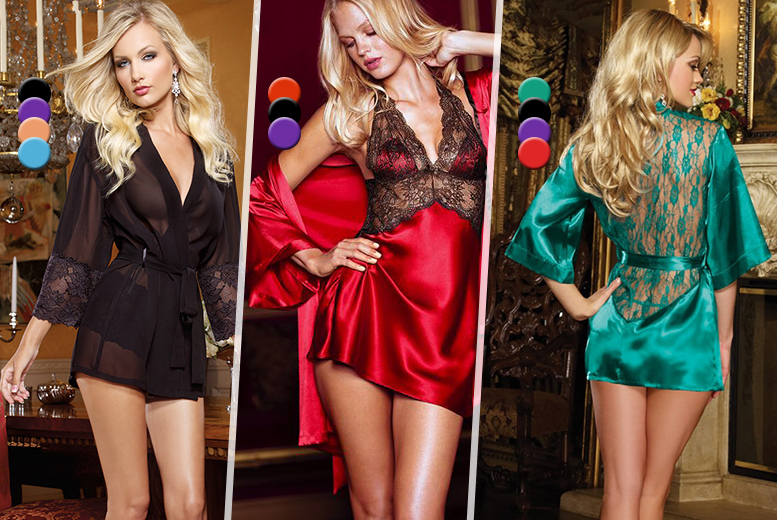 From £7.99 instead of up to £74.99 (from Risqué Intentions) for a choice of Valentine's nightwear - choose from 6 designs & save up to 77%