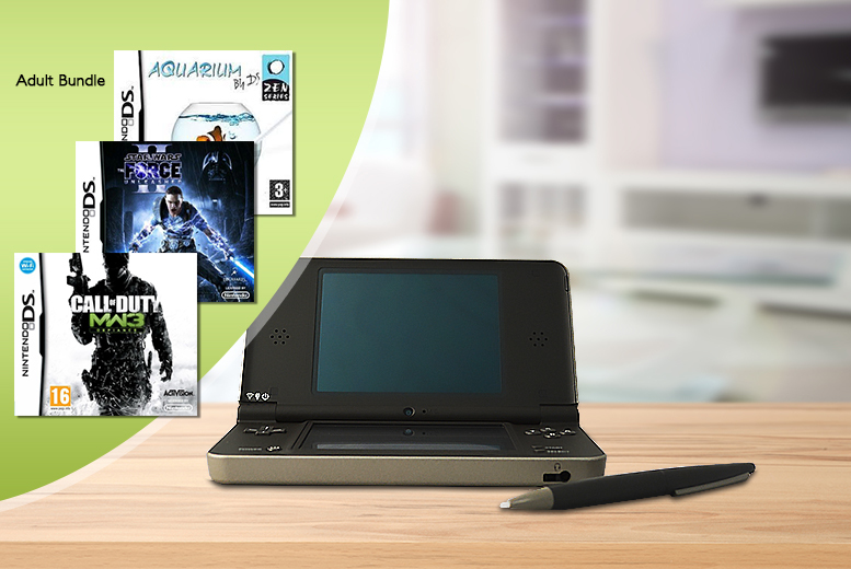 £65 for a Nintendo DSi XL with 3 games from Wowcher Direct - choose a bundle for boys, girls or adults!