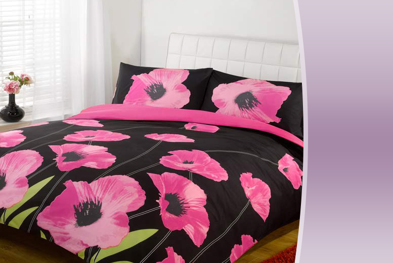 £7.99 for a single Amapola duvet set, £11.99 for a double, £12.99 for a king or £14.99 for a super king from Wowcher Direct - save up to 78%