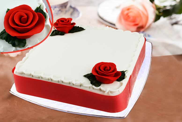 £12 instead of £55 for a 9-inch personalised red velvet, chocolate or vanilla square cake from Cake Create - save 78%