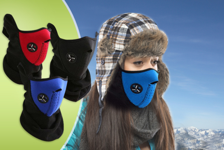 £9 instead of £49.99 (from Top Notch Fashion) for 3 Neoprene thermal face masks - beat the cold and save 82%