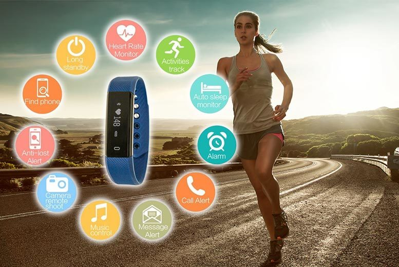 VeryFit 10 in 1 Smart Band Fitness Tracker (Multiple Colours)