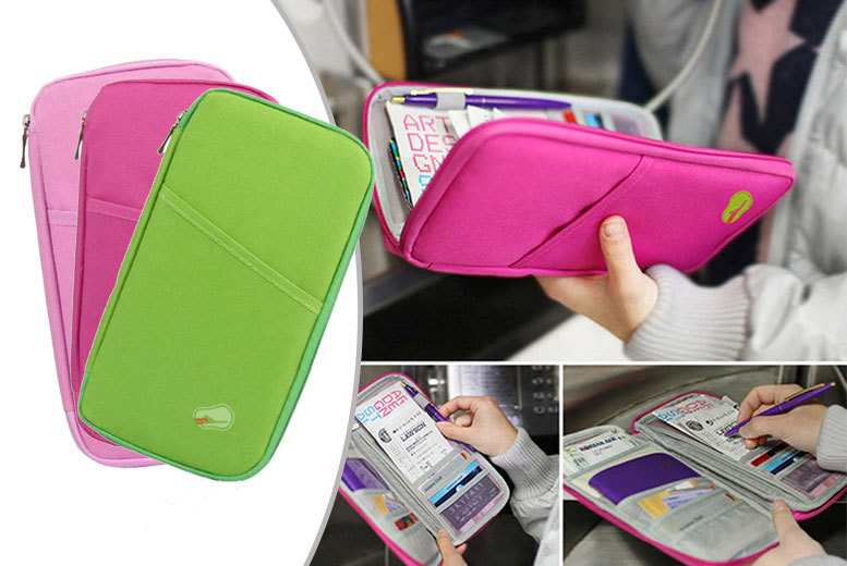 £2.99 instead of £29.99 (from Fakurma) for a passport and travel document organiser - choose from three colours and save 90%