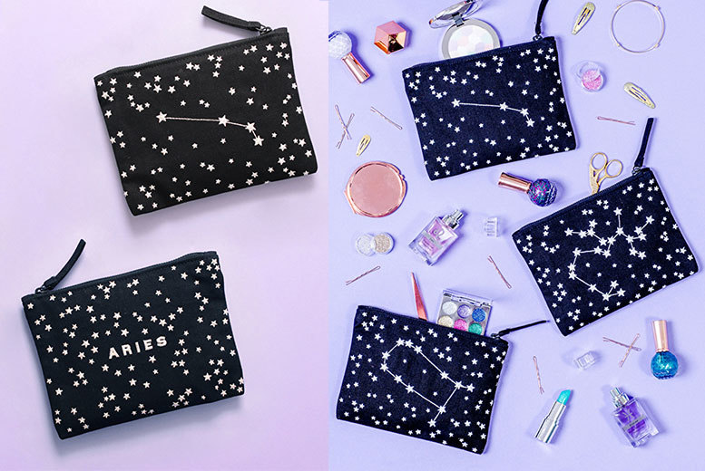 Embroidered Double-Sided Zodiac Pouch - 12 Designs!