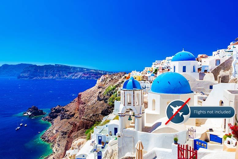 £49 for a three-night Santorini stay for two with a carafe of wine, £69 for four nights, £79 for five nights, or £169 for seven nights - save up to 69%