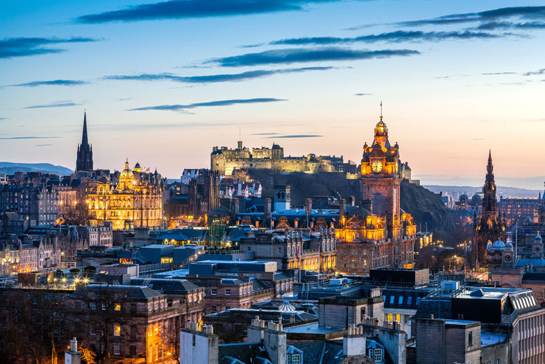 From £69pp (from ClearSky Holidays) for a 4* overnight Edinburgh stay including flights, from £99pp for 2 nights - save up to 20%