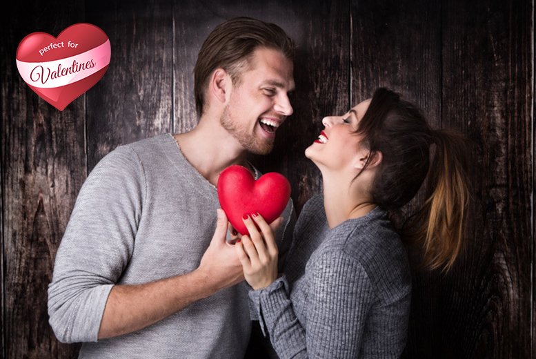 £9 for a Valentine's couple's photoshoot for 2 inc. makeover & images from Studio 24, Glasgow