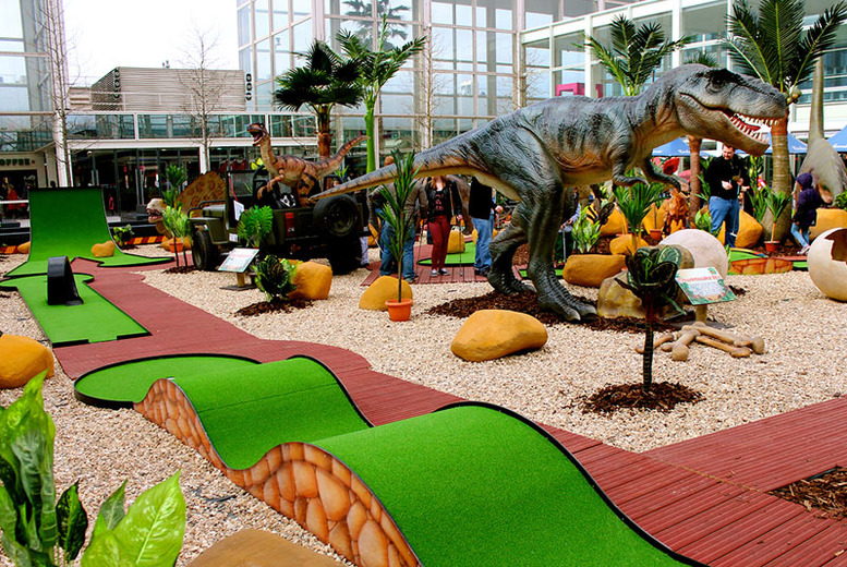 £9 instead of £18 for a family ticket (2 adults and 3 children), or £10 for a group ticket (4 adults) to Jurassic Golf, Hatfield - save up to 50%