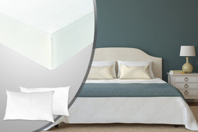 £79 (from Sleep Solutions) for a single memory foam mattress and pillow, £99 for double, £109 for king, £129 super king - save up to 62%