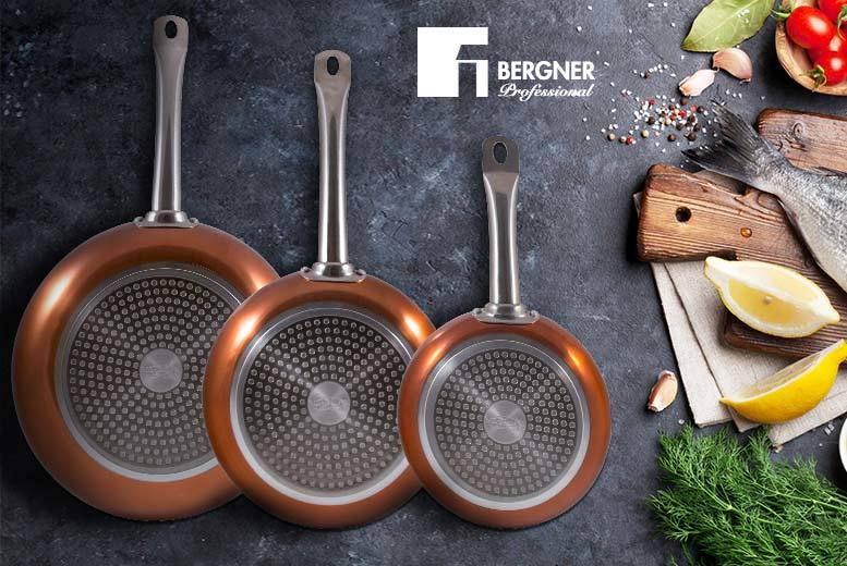 £29 instead of £129.99 (from Cheerful Bargains) for a set of three copper frying pans - save 78%