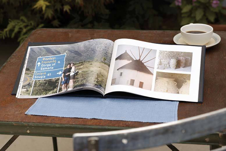 """£15 instead of £84.59 (from Truprint) for an 11"""" x 8"""" 100-page custom cover hardback personalised photobook - save 82%"""