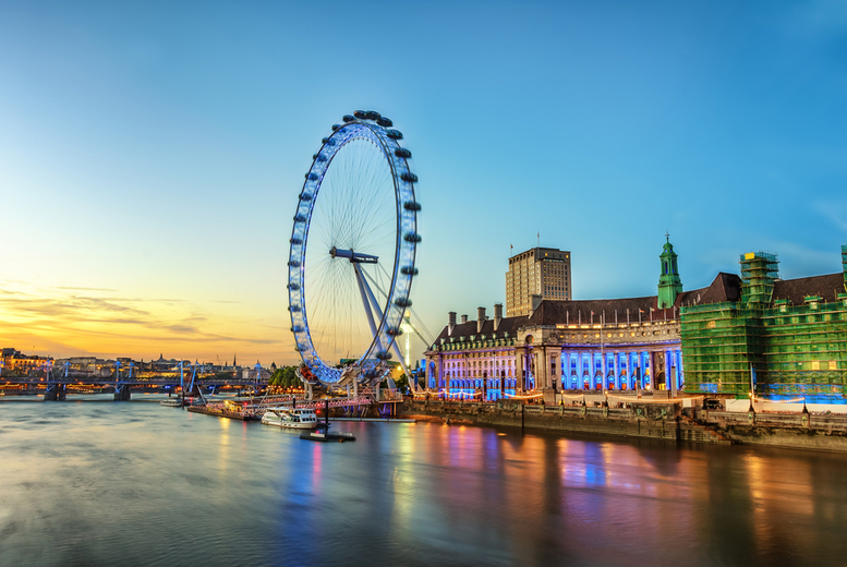 From £79pp (from OMGhotels.com) for an overnight London stay with breakfast, London Eye experience and River Cruise - save up to 63%