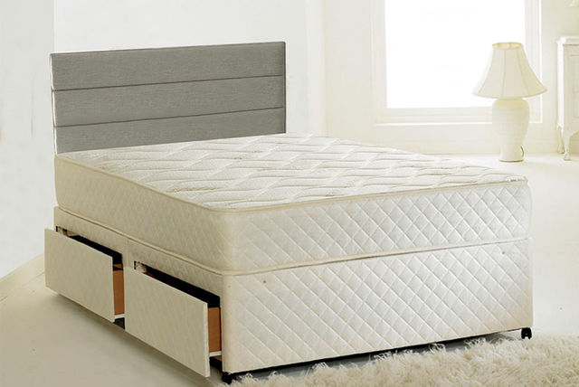 Cool Blue Quilted Memory Bonnell Mattress