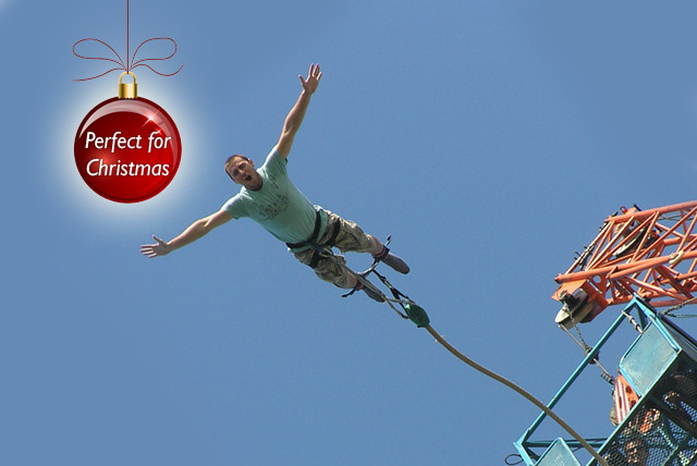 £69 instead of £75 to bungee jump 160ft at The O2 Arena or £135 for a tandem jump with UK Bungee Club