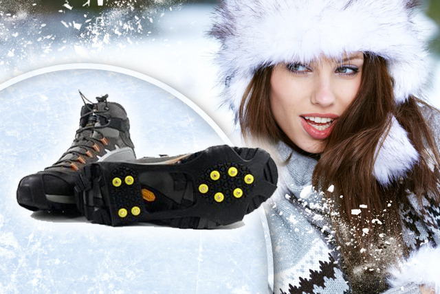 £5.99 instead of £19.99 (from Garden Games and Leisure) for a pair of shoe ice grips - stay safe and save a sturdy 70%