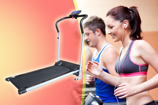 £119.99 (from Homcom) for a foldable electric treadmill inc. LED screen and controls
