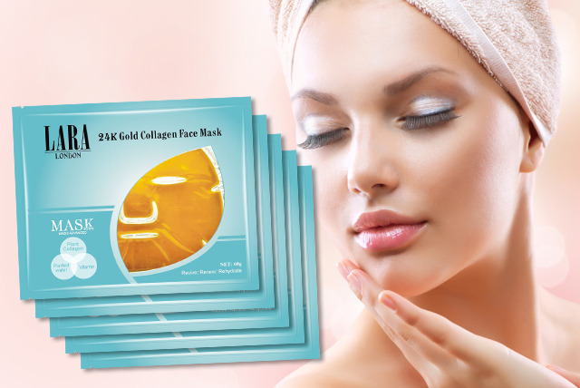 £10 instead of £56.25 (from iBeautyFix) for a pack of 5 golden collagen face masks - save a golden 82%