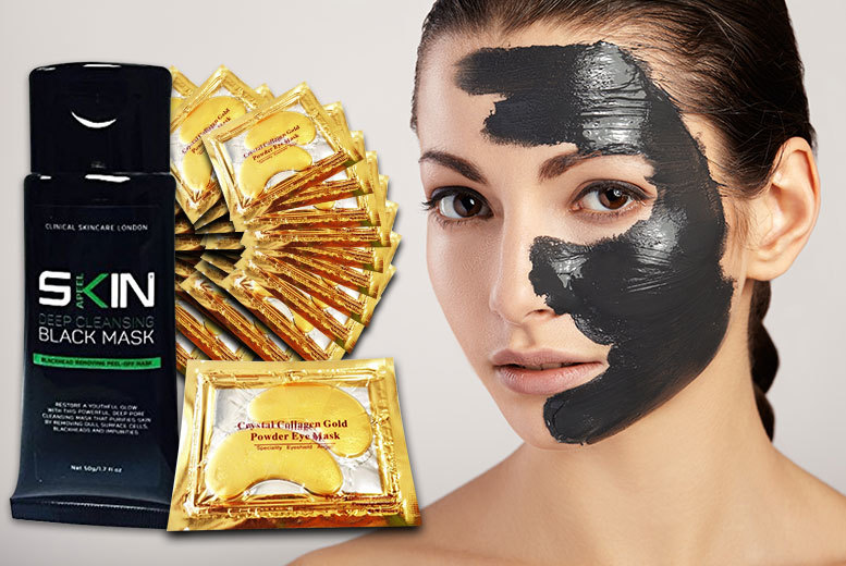 £8 instead of £109 (from Forever Cosmetics) for a 50ml tube of blackhead peel-off Mask with 40 'Crystal' Gold Collagen Eye Masks - save 93%