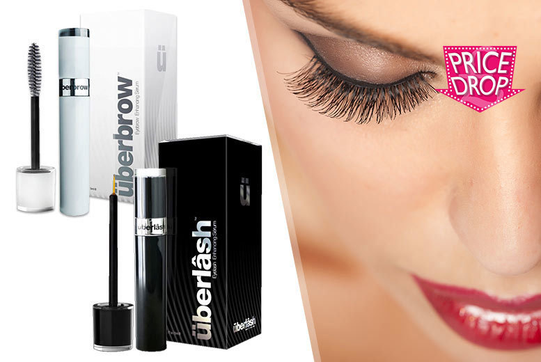 £9 instead of £77.95 (from Internet Shop UK) for Überlash or Überbrow serum, or both serums for £17 - treat your lashes to some luxury and save up to 88%