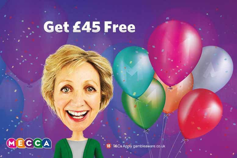 £2 for a £45 Mecca bingo credit to spend at MeccaBingo.com - save 96%