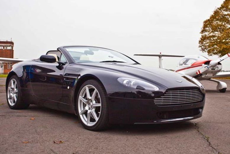 £39 instead of £99 for three laps in an Aston Martin V8 Vantage Roadster at one of 10 UK locations with Car Chase Heroes - save 61%