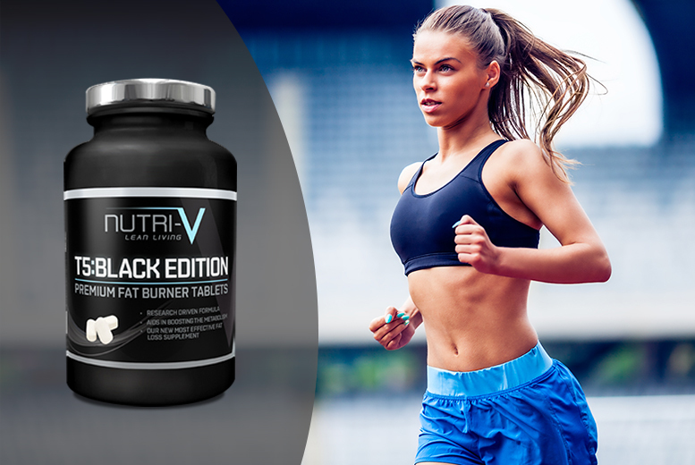 £7 instead of £30 (from Nutri-V) for a one-month* supply of T5 Black Edition 'Fat Burner' tablets, £16 for a three-month* supply - save up to 77%