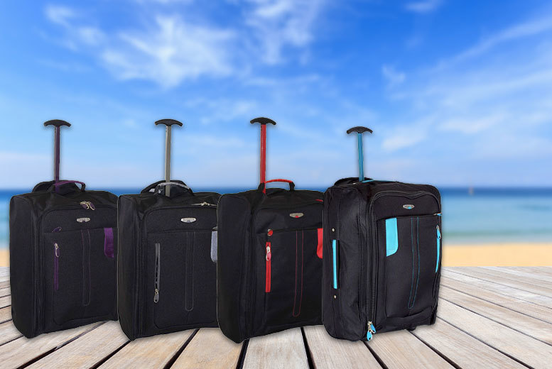 £10 instead of £53.99 (from Trendy Look) for a cabin-approved luggage suitcase - choose from four colours and save 81%