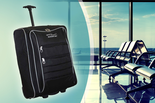 £14.99 instead of £29.99 (from Millprice) for a 42L capacity 5 Cities Cabin Trolley Suitcase – travel in style and save 50%