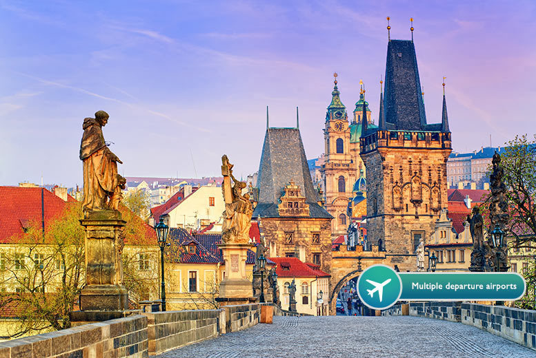 From £79pp for a two-night Prague break with breakfast, flights and a river cruise or Hard Rock Cafe dinner, from £99pp for three nights - save up to 62%