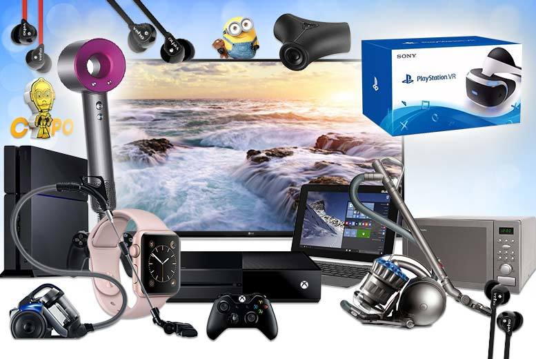 "From £10 for a Mystery Electronics Deal from HCI Distribution - get a Dyson Supersonic hairdryer, LG 49"" UHD 4K TV, Sony PS4, Apple Watch and more!"