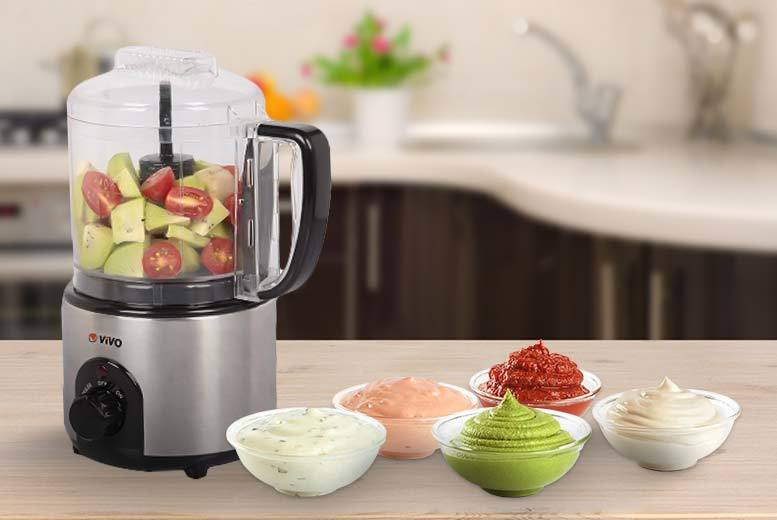 Vivo Mounts 150W Multi Function Mini Food Processor (Stainless Steel)