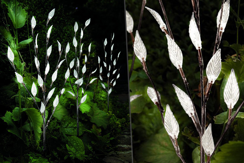 £9.99 instead of £29.99 (from Vivo Mounts) for a set of three solar LED branch lights - light up your life and save 67%