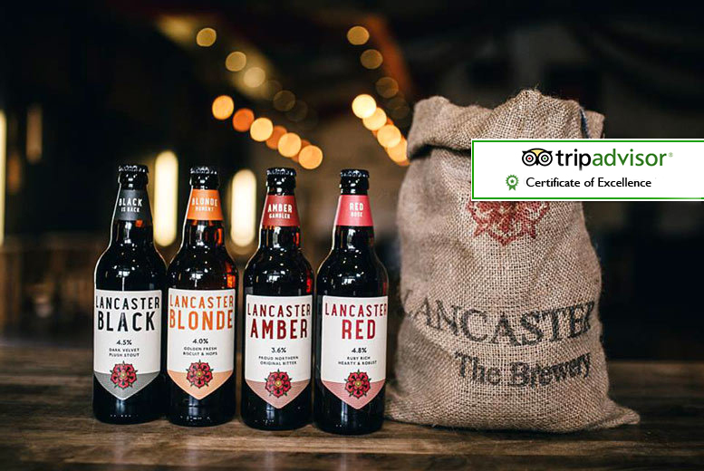 £19 instead of £58 for a brewery tour with handmade pork pies, pickles and up to three pints each at Lancaster Brewery - save 67%