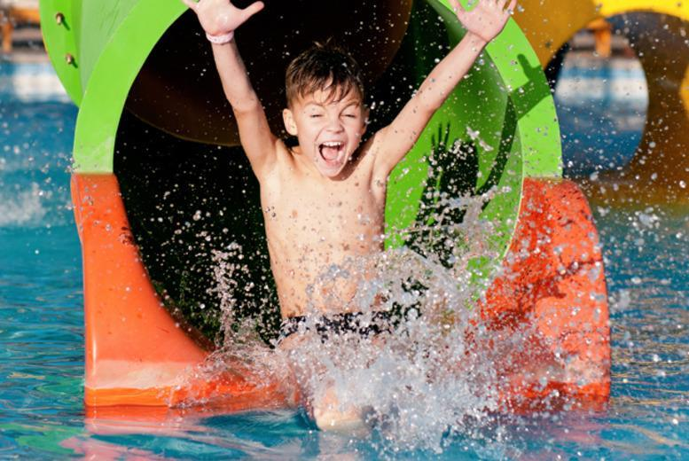 £6.99 for adult entry to WaterWorld, £9 for 1 adult and 1 child, £19 for a family of 4 or £24 for a family of 5 - save up to 33%