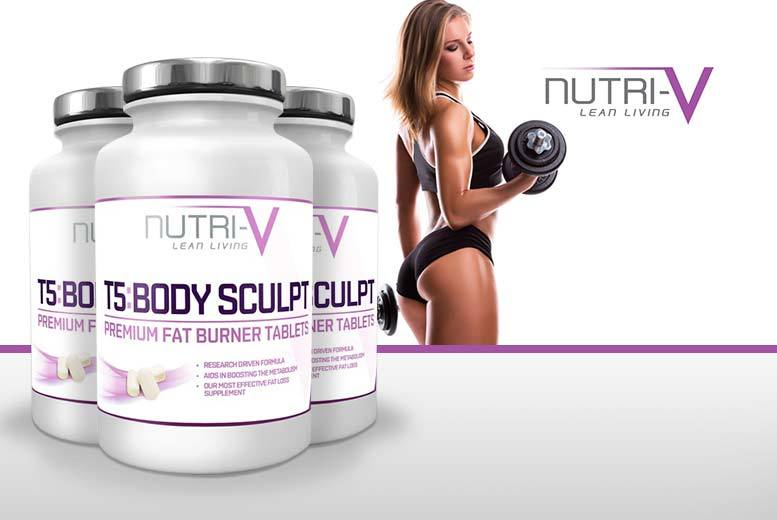 £15 instead of £71.01 (from Nutri-V) for a three-month supply* of T5 'Fat Burner' tablets - save 79%