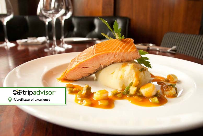 From £29 for a two-course dinner for two people with a bottle of wine to share at 29 The Grill at The Square, Glasgow