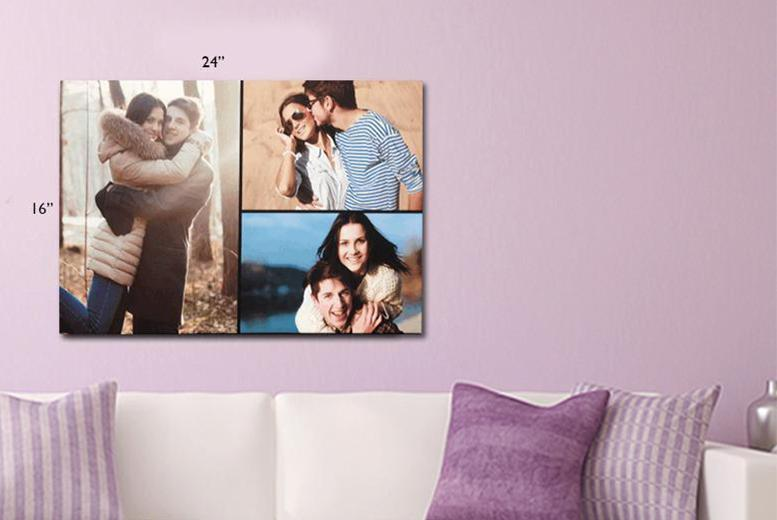 £10.99 instead of £36.99 (from Great Photo Gifts) for a personalised A2 canvas print - save 70%