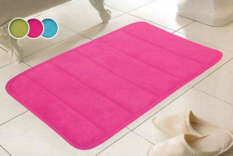 ... memory foam bath mat from Wowcher Direct - choose from 12 designs