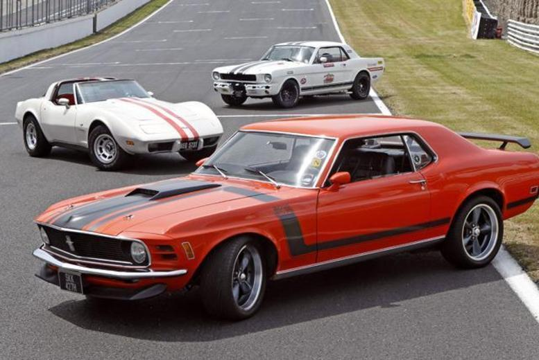 From £79 instead of £199 for a 6-mile Mustang experience at Brands Hatch, Goodwood or Rockingham with Classic American Muscle - save up to 60%
