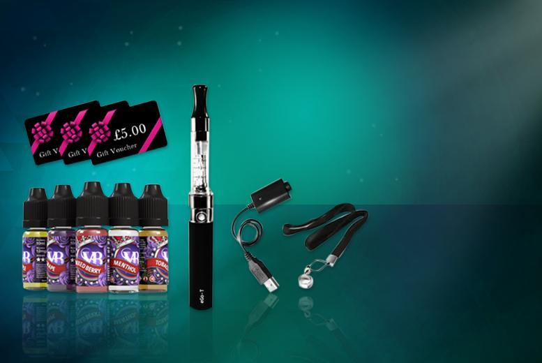 £19.99 instead of £48 (from Vapeabox) for a 10-piece e-cigarette starter kit including 5 e-liquids and a £5 gift voucher - save 58%