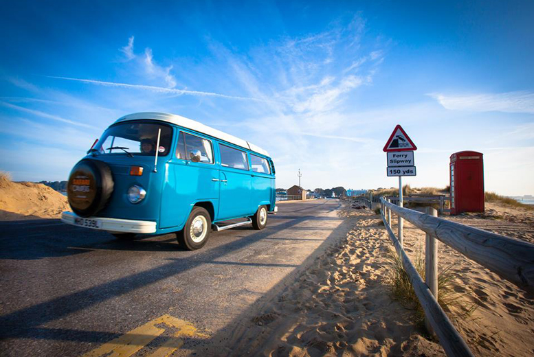 £199 instead of up to £396 (from New Forest Safari Campers) for 3nt weekend or 4nt midweek VW campervan hire for up to 4 - save up to 50%