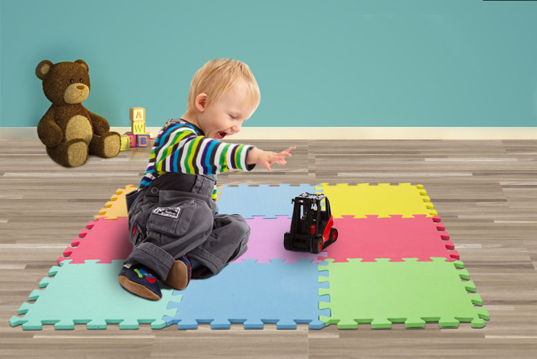 9pc colourful puzzle play mat