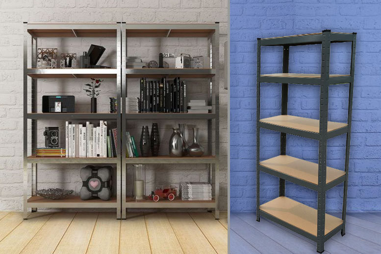 £19.99 instead of £199.99 (from Vivo Mounts) for a five-rack steel shelving unit - step up your storage game and save 90%