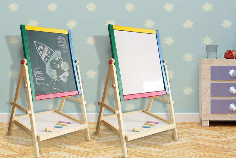 £9.99 instead of £30 (from Direct2Public) for a kids' 2-in-1 wooden blackboard - save 67%