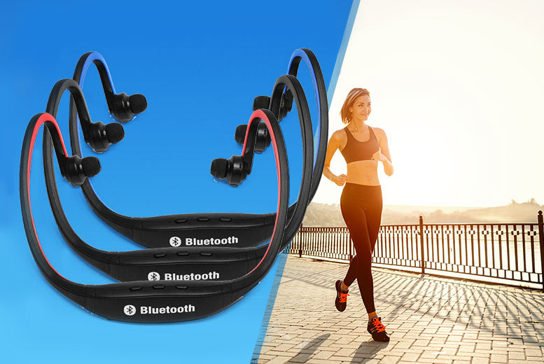 £9.99 instead of £49.99 (from Chimp Electronics) for a set of wireless Bluetooth sports headphones - choose from 3 colours and save 80%