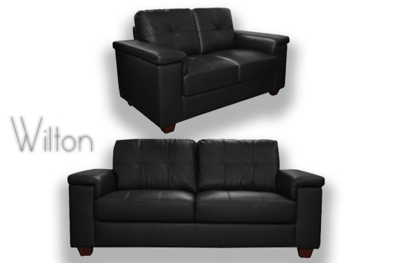 Deal  Leather Fabric Sofas/£349 for a 2seater Wilton leather sofa