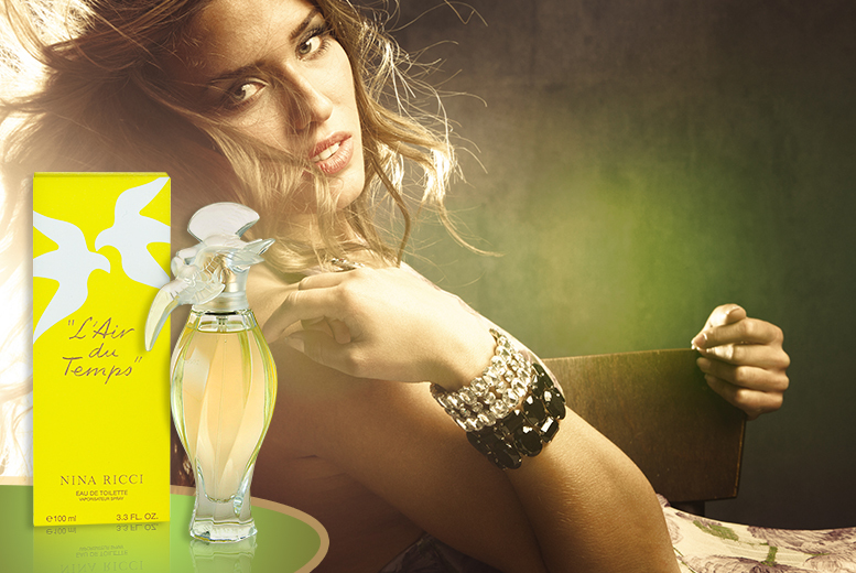 £26.99 instead of £54.51 for a 100ml bottle of Nina Ricci L'air Du Temps eau de toilette from Wowcher Direct - save 50%