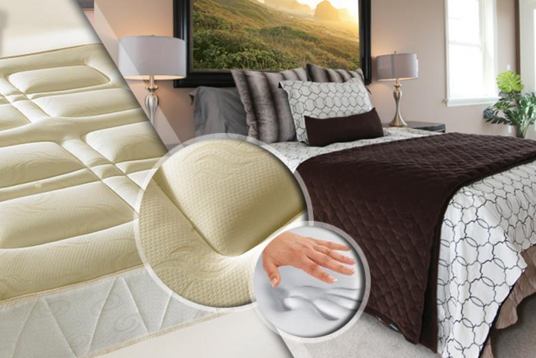 £89 (from Fishoom) for a single memory foam sprung mattress, £119 for a double or £139 for a king size - save up to 80%
